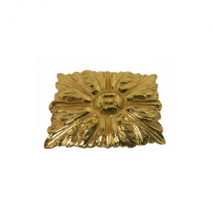 Smart Creations (545) Gold Plating Lacquering Finish 1.5 Inch Rectangle Shaped Medium Size Khumeel