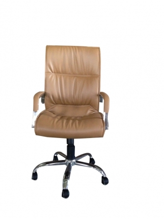 Office Executive Chair - PU Finish Brown Color