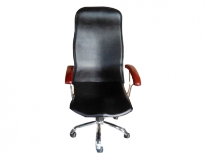Office Chair - PU Finish Black Color