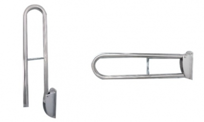Support Bar - Stainless Steel Wall Mounted Foldable Grab Bar