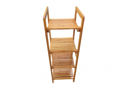 Book Shelf with Four Tier - Bamboo Wood