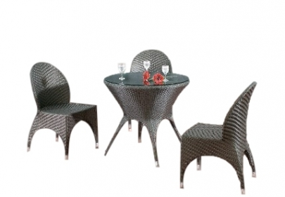 Dining Table Set (3 Chairs + 1 Table) - Rattan