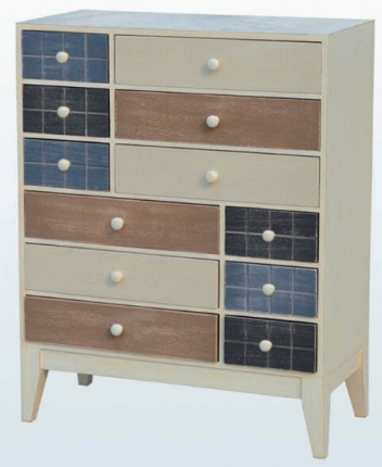 12-Drawer Chest - Bamboo Wood
