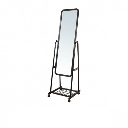 Rectangular Standing Mirror with Wheels