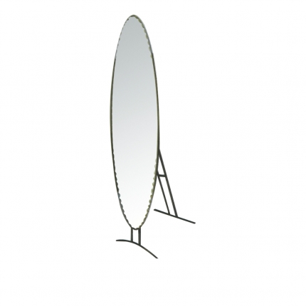 Oval Mirror with Stand