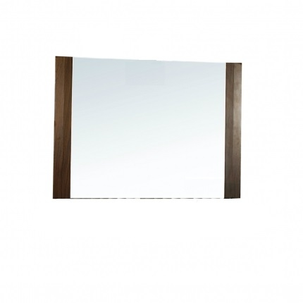 Rectangular Mirror with Side Wood Design