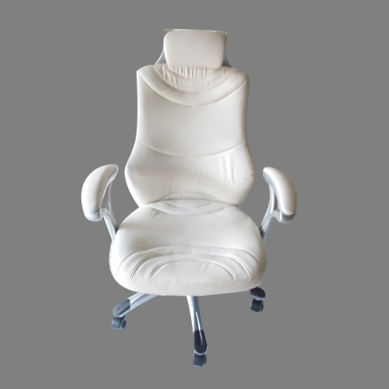 Executive Chair with Fixed Head Rest - Off-White Color