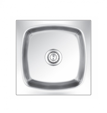 nirali silent omni range square small stainless steel glossy kitchen sink - Nirali Kitchen Sinks