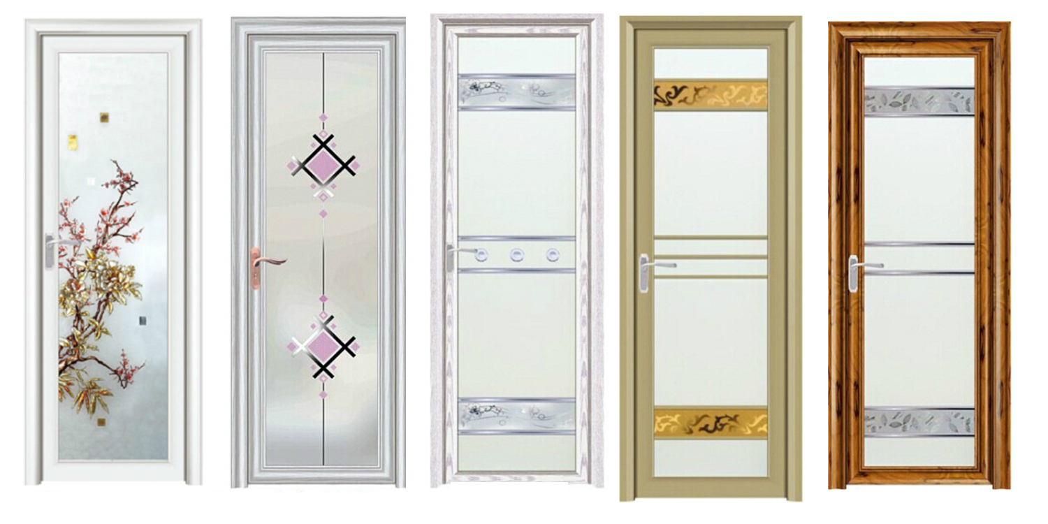 Online at best price in india doors for Bathroom glass door designs